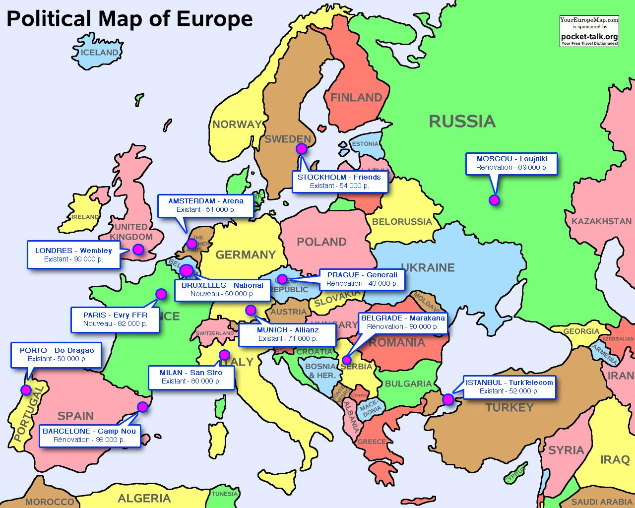carte europe uefa