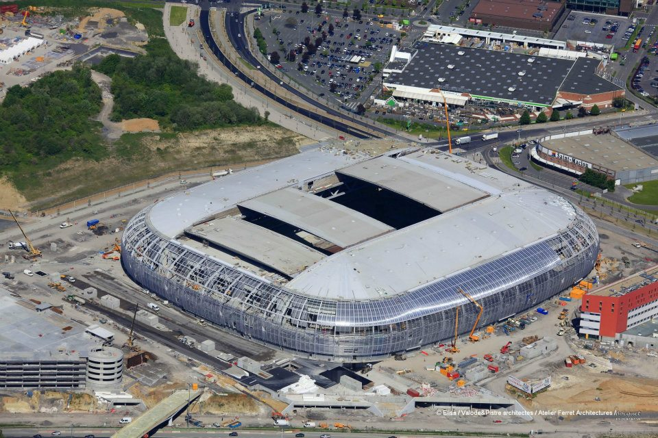 Photos du grand stade lille m tropole d but juin 2012 for Stand lille