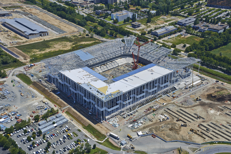 photo aerienne grand stade bordeaux