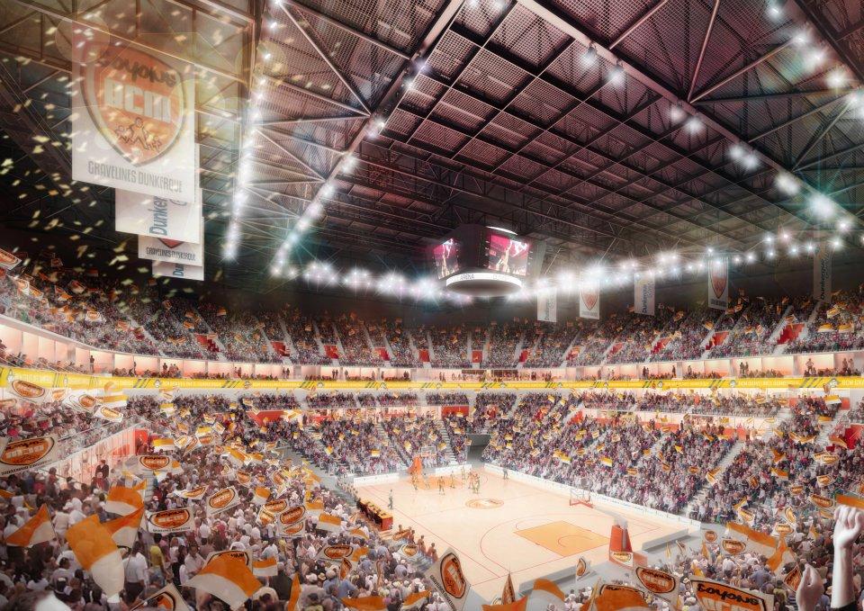 Dunkerque le projet d 39 arena probablement revu la baisse for Interieur u arena