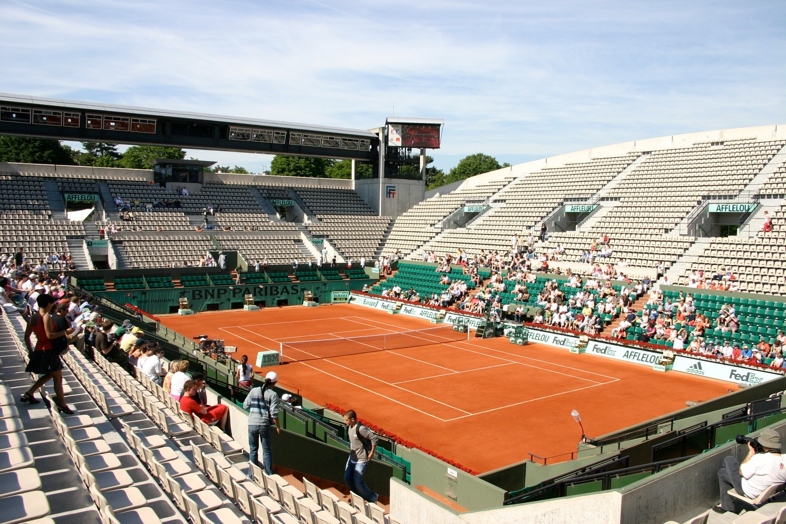 Court Suzanne Lenglen - Info-stades Pictures Of Courts